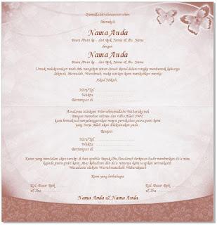 Undangan Pernikahan Simple Mazaya MZ - 013