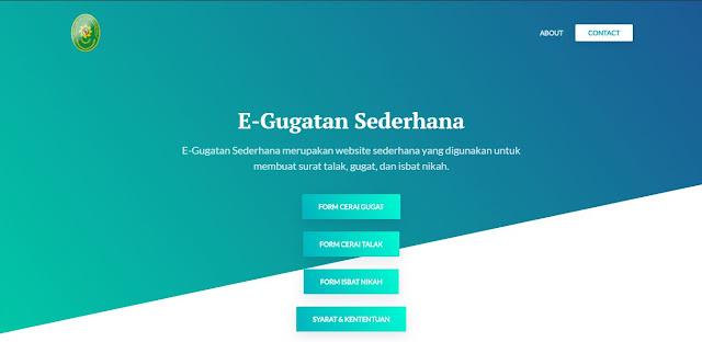Project Membuat Aplikasi Web E-Gugatan Sederhana