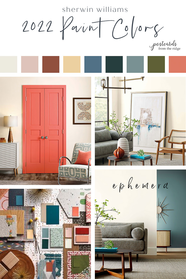2022 color forecast from sherwin williams