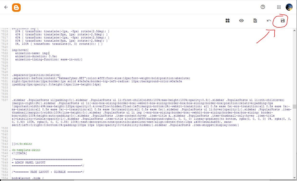 save edit html blogger