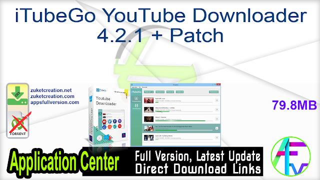 iTubeGo YouTube Downloader 4.2.1 + Patch