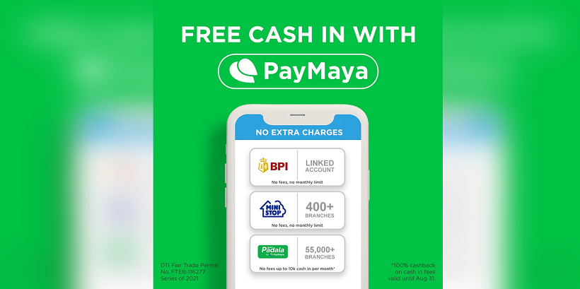 How to Cash in to your PayMaya account for FREE?