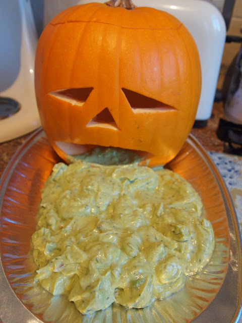 Puking Guacamole Pumpkin