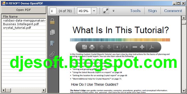 Membuat PDFViewer (Open PDF) dengan WebBrowser VBNET | DASAR PROGRAMER