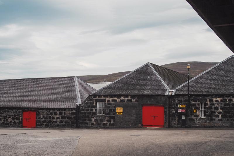 La distillerie de whisky Glenfarclas en Ecosse