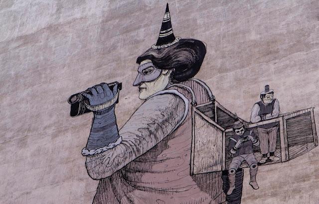 New Street Art Mural By Daniel Munoz SAN on the streets of Madrid, Spain. 1
