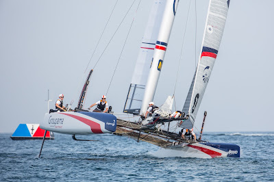 Groupama Team France lors des ACWS à Oman.