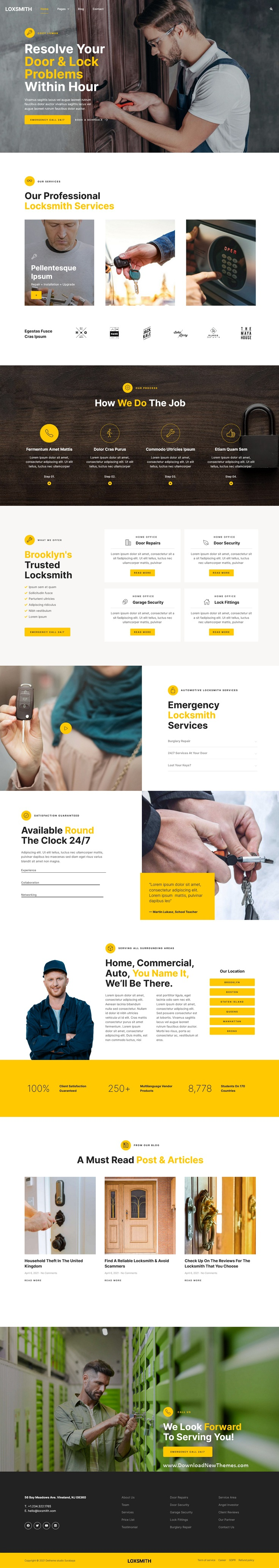Key & Locksmith Services Elementor Template Kit