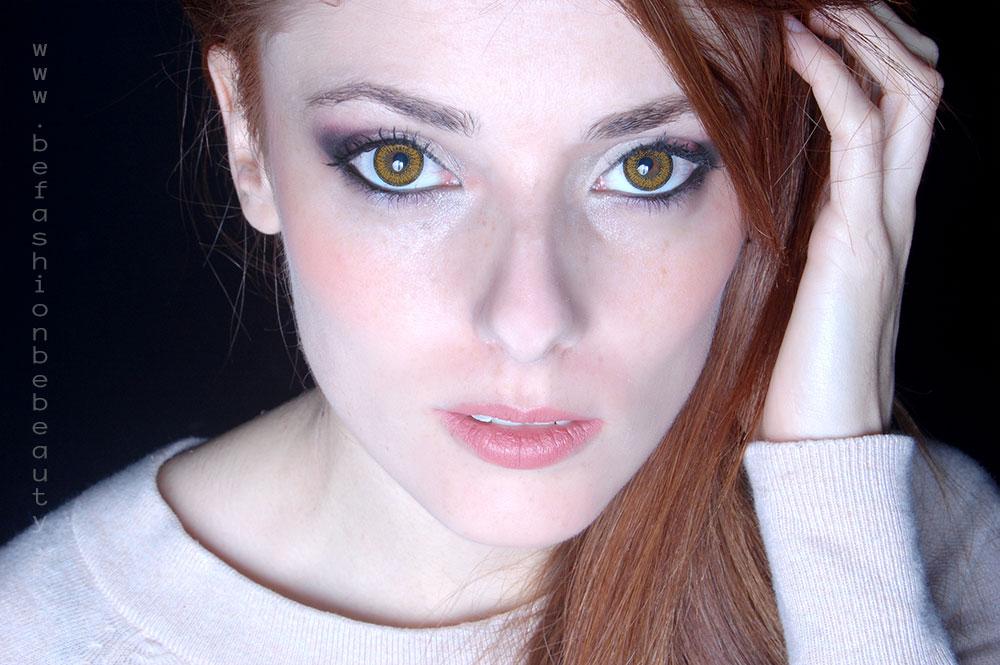 Maquillaje para ojos miel. Paso a paso, tutorial.
