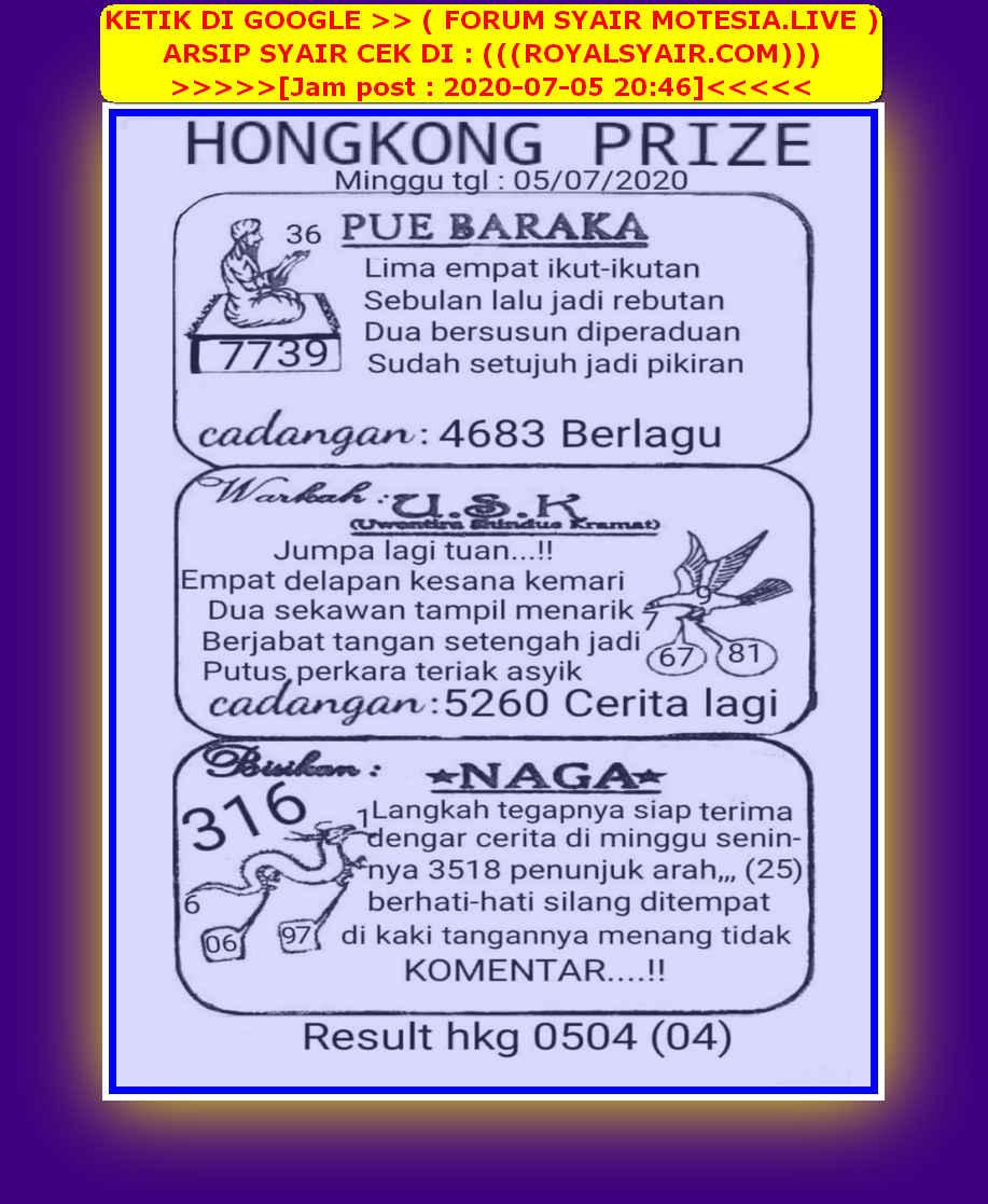 Kode syair Hongkong Minggu 5 Juli 2020 14