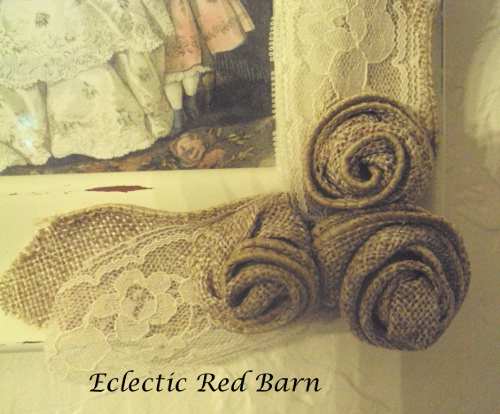Eclectic Red Barn: Wired Burlap Ribbon Rosettes