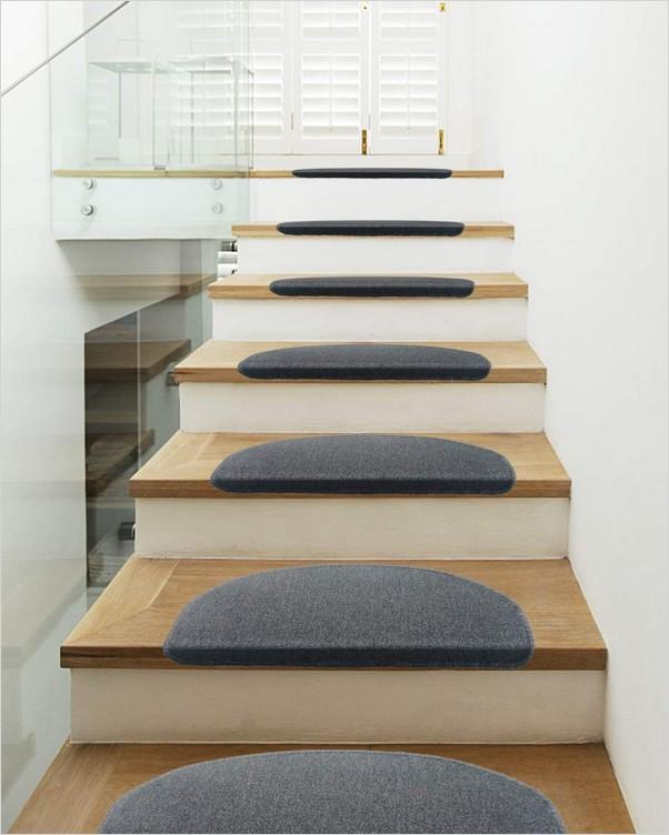 √√ Bullnose Carpet Stair Treads Home Interior Exterior Decor   Bullnose Carpet Stair Treads   Contemporary   Adhesive Padding 31 Wide Tread Single 10 Deep   Marble Morden Stair   Stairway   Metal Stair