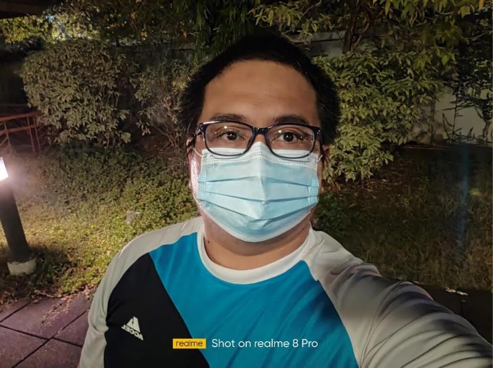 realme 8 Pro Camera Sample - Night Selfie