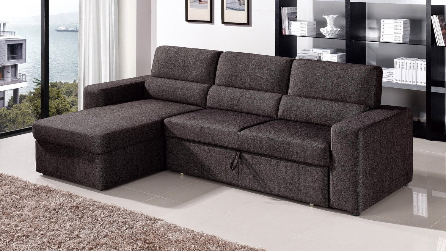 Pull out couch sectional couch with pull out bed for Sectional sofa with pull out bed and recliner