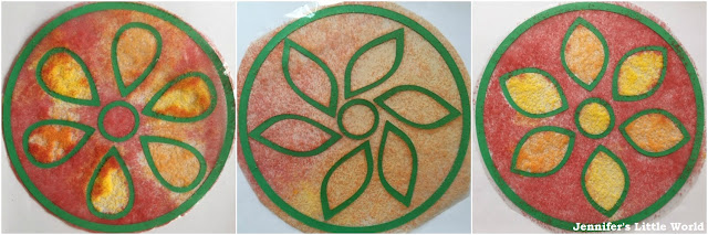Dyed salt rangoli
