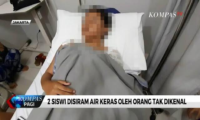 Teror Mirip Novel Baswedan Hantui Warga Jakbar, 2 Pelajar dan Penjual Sayur Disiram Air Keras