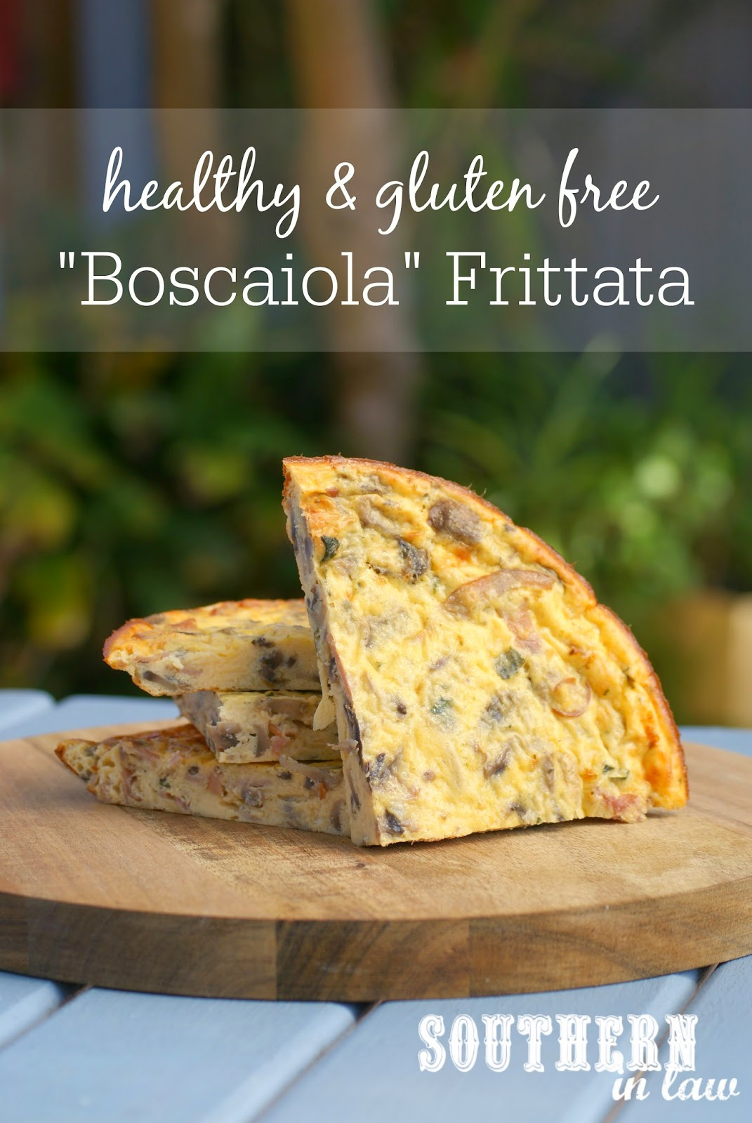 Healthy Boscaiola Frittata Recipe - Ham, Cheese and Mushroom Frittata - low fat, gluten free, low carb, healthy, breakfast, lunch, dinner, christmas leftover recipes