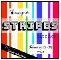 multi colored stripes badge