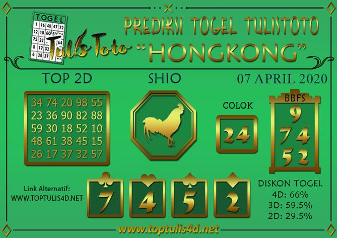 Prediksi Togel HONGKONG TULISTOTO 07 APRIL 2020