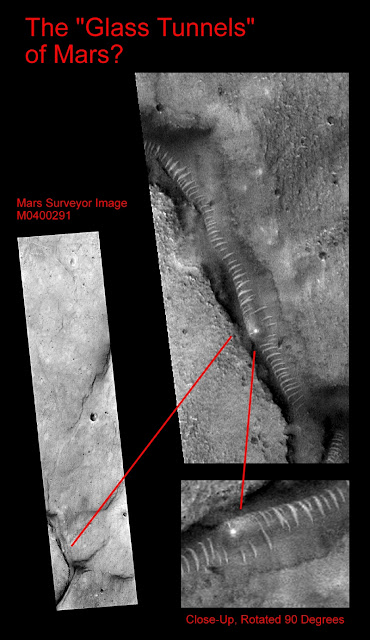 γυάλινα τούνελ, Άρης