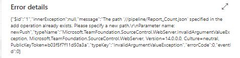 The path 'xxx' specified in the add operation already exists. Please specify a new path
