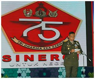 HUT TNI Ke-75, Danrem 162/WB Tekankan Pentingnya Sinergisitas