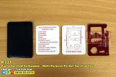 Kartu Survival Serbaguna – Multi Purpose Pocket Survival Tool