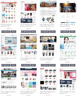 Giao diện Web bán Theme Blog - Theme Blogspot - Blogspotdep.com