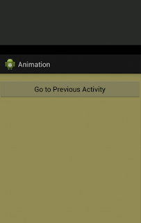 Android animation while switching activities