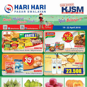 Katalog Promo Hari Hari Swalayan Weekend 19 - 22 April 2018