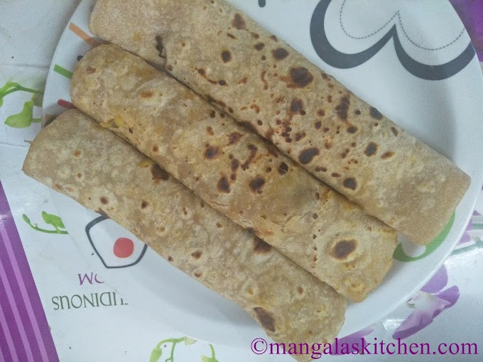 Vegetable Roll | Katti Roll | Chapathi Veg Roll