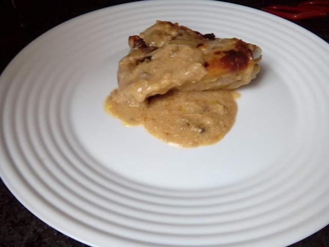 Pollo al sobre en el horno