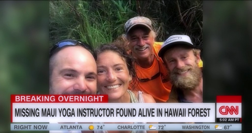 Survival history of the rescued hiker: 17 days in the Hawaiian forest with berries, river water, and intelligence.