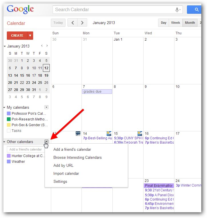 Google Calendar: Adding The Calendar To Android
