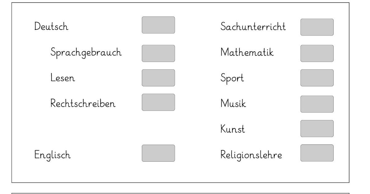 Lernstübchen: Selbsteinschätzung rund um die Noten (mit Link)