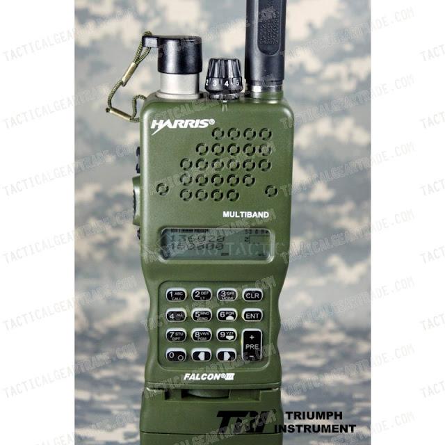 Harris Falcon2 satellite radio military green