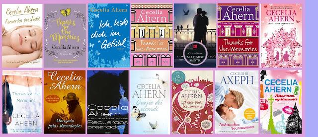 Portadas de la novela romántica contemporánea de fantasía Recuerdos prestados, de Cecelia Ahern