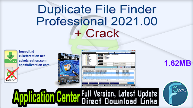 Duplicate File Finder Professional 2021.00 + Crack