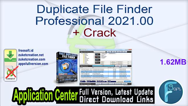 Duplicate File Finder Professional 2021.00 + Crack