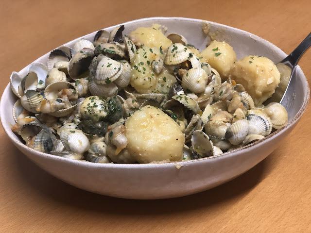 Berberechos Con Patatas Cocidas…, Y Un Toque Thai