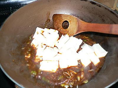 豆腐を入れる