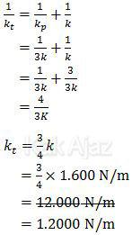 Cara menentukan konstanta pegas total yang tersusunan seri dan paralel