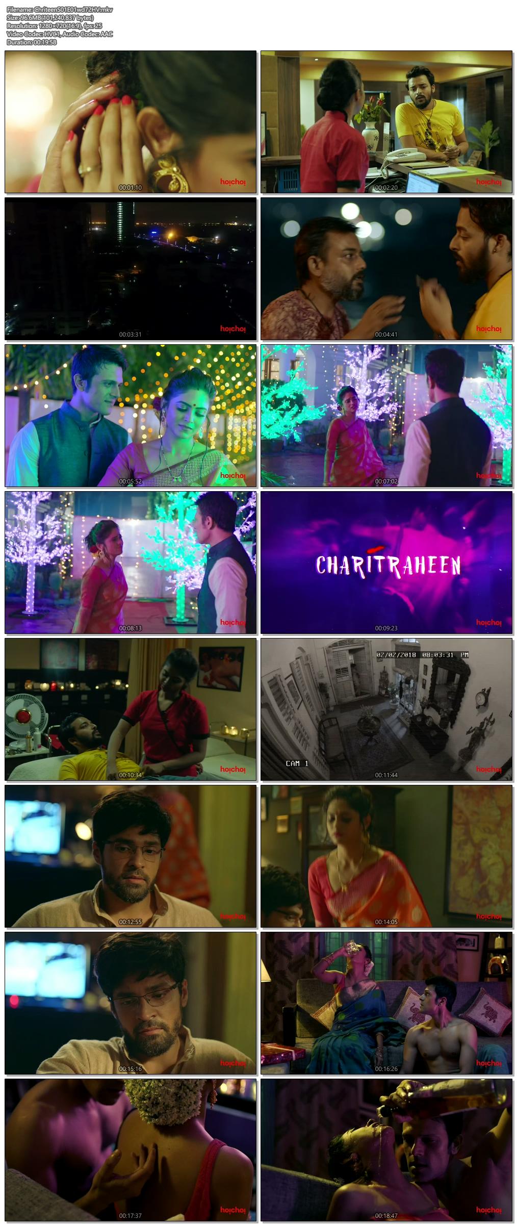 Screen Shot Of Charitraheen 2019 Full Complete Season 1 Free Download HD 720P Watch Online