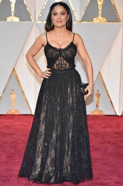 Salma Hayek at 89th Annual Academy Awards