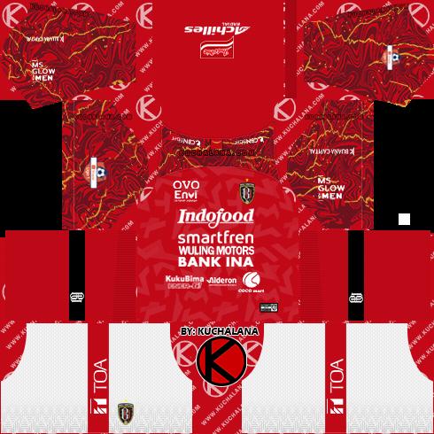 Bali United 2020 Kit - Dream League Soccer Kits