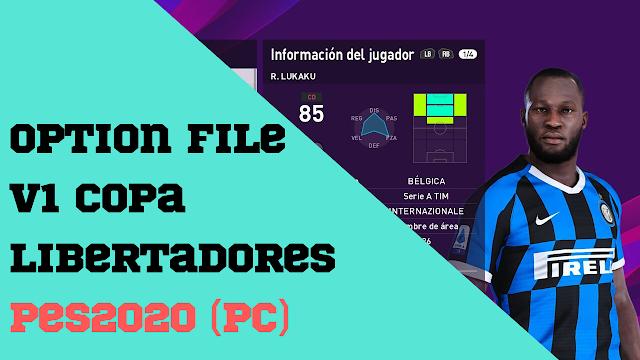 Option File V1 | Copa Libertadores | PES2020 | PC