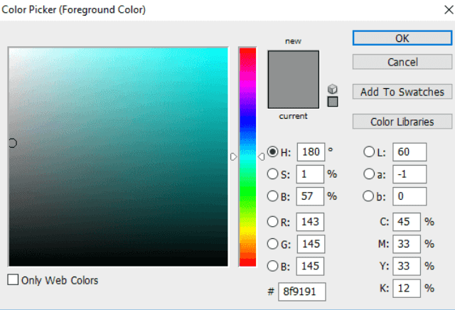 Create the Poster Background Color