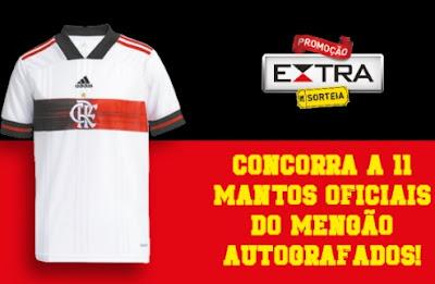 Promoção Jornal Extra 2021 Sorteio Camisas do Flamengo Autografadas