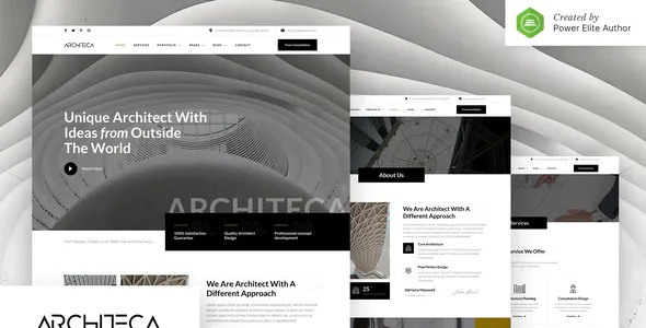 Best Architecture Agency & Interior Design Elementor Template Kit