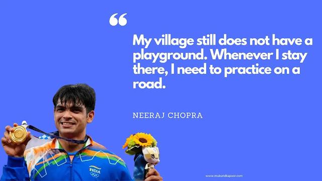 Gold medalist neeraj chopra quotes